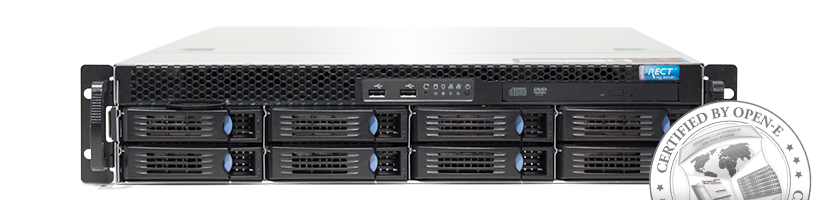 Storage - NAS - RECT™ ST-3682R8-N - 2HE Storage with 2x Xeon E5-v2 and 7,2 TB HDD