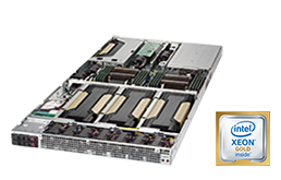 Server - Rack Server - 1U - RECT™ RS-8588G4 - 1U Dual Xeon Scalable Rack Server for up to 4 Graphics Cards