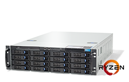 Server - Rack Server - 3U - RECT™ RS-8725R16 - 3U Rack Server with AMD RYZEN™ 3000 CPUs