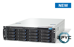 Server - Rack Server - 3U - RECT™ RS-8737R16 - 3U Rack Server with AMD EPYC Rome up to 64 Cores