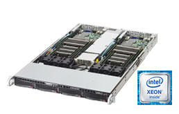 Twin / Multinode - Rack Server - RECT™ RS-8585R4-Twin - 1U Rack Server with two Intel Xeon E5-v4 Dual-CPU systems