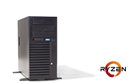 Silent-Server - RECT™ TS-3223C4-T - Tower-Server with AMD Ryzen™ Processor