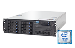 Silent-Server - RECT™ RS-8784R8 - 3U Single-CPU Rack Server with Intel Xeon E5-V4 CPUs Broadwell-EP