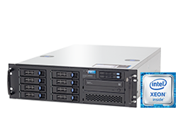 "Silent-Server - RECT™ RS-8764R8 - 3U Single-CPU Rack Server with Intel Xeon E3-v6 CPUs ""Kaby Lake"""