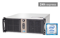 Silent-Server - RECT™ RS-8864C5 - Short 4U Single-CPU Rack Server with Intel Xeon E3-v6 CPUs