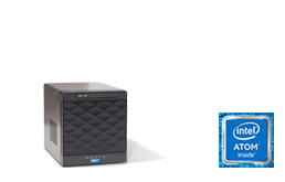 NAS - Storage - RECT™ ST-2251C4-N - Compact mini Tower-Storage with 4 hot-swap trays for up to 24 Terabyte capacity