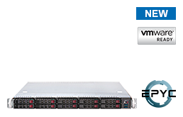 Virtualization - VMware - RS-8535VR10 - 1U Rack Server with single AMD EPYC Rome CPU up to 64 Cores